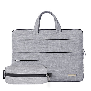 cheap Computer Peripherals-13.3 Inch Laptop / 14 Inch Laptop / 15.6 Inch Laptop Sleeve / Briefcase Handbags Polyester Plain / Fashion for Business Office for Colleages & Schools for Travel Shock Proof