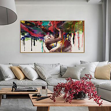 povoljno Uokvirena umjetnost-Uokvireni print Uokvireni set - Sažetak Ljudi Polistiren Oil Painting Wall Art