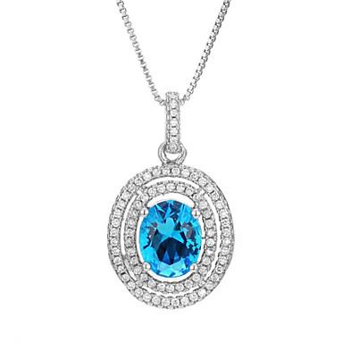 levne Dámské šperky-Dámské Kubický zirkon Náhrdelníky s přívěšky Geometrické Koblihy Módní Pozlacené Bílá 45+5 cm Náhrdelníky Šperky 1ks Pro Dar Denní