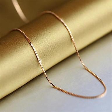 levne Dámské šperky-Dámské Řetízky Klasika Drahocenný Módní Měď Pozlacené Růžové zlato Zlatá 45 cm Náhrdelníky Šperky 1ks Pro Denní Práce