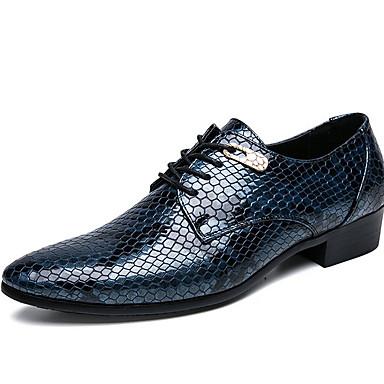 abordables Oxfords Homme-Homme Chaussures de confort Cuir Hiver Oxfords Noir / Bleu