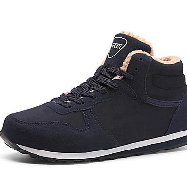abordables Chaussures de Course Homme-Homme Chaussures de confort Hiver Quotidien Chaussures d'Athlétisme Course à Pied Cuir Noir / Bleu