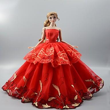 Φόρεμα κούκλα Πάρτι / Απόγευμα Για Barbie Άνθινο / Βοτανικό Πολυεστέρας Φόρεμα Για Κορίτσια κούκλα παιχνιδιών