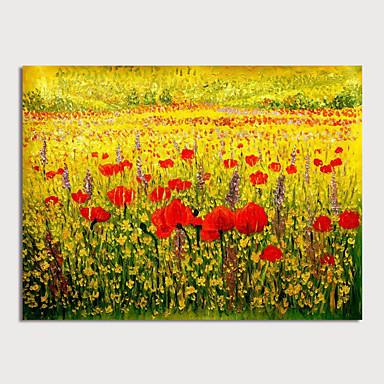preiswerte Ohne Innenrahmen-Hang-Ölgemälde Handgemalte - Blumenmuster / Botanisch Modern Ohne Innenrahmen