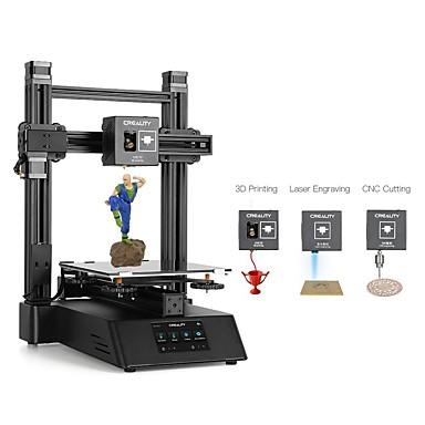 preiswerte 3D-Drucker-creality cp-01 3-in-1 diy 3d-drucker modulare maschine kit unterstützung lasergravur / cnc schneiden 200 * 200 * 200 druckgröße mit 4,3 zoll bildschirm / power wiederaufnahme / abnehmbare glasplatte /