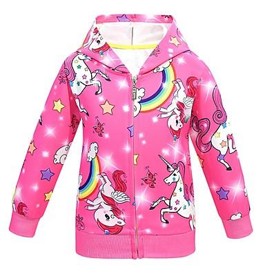 cheap Girls' Jackets & Coats-Kids Girls' Basic Rainbow Suit & Blazer Purple