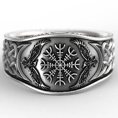 billige Båndringe-Herre Band Ring Ring 1pc Sølv Sølvplett Statement Stilfull Rock Gave Daglig Smykker Vintage Stil