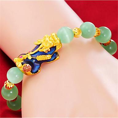 preiswerte Armband Herren-Herrn Damen Perlenarmband Geometrisch Tier Stilvoll Harz Armband Schmuck AB Weiße Farbe Für Geschenk Alltag
