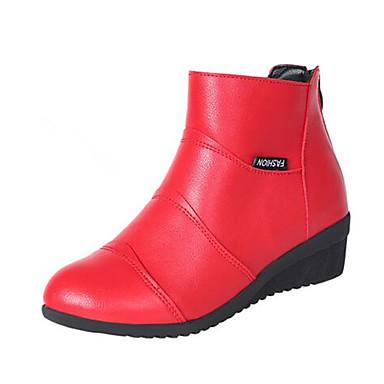 preiswerte Dance Boots-Damen Tanzschuhe Kunststoff Tanzstiefel Stiefel Starke Ferse Maßfertigung Schwarz / Weiß / Rot