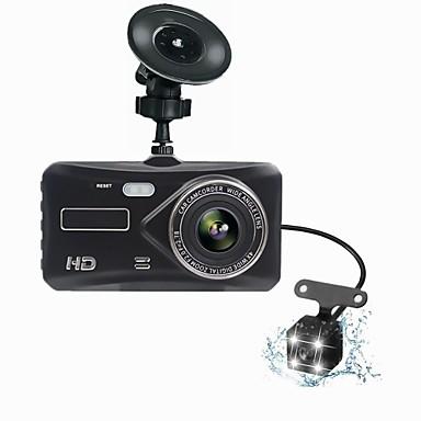 billige Bil-DVR-t672 dual lens mini dash cam fhd 1080p 4 ips skjerm dvr bakfra to kamera dvrs instrumentpanel auto video record natt versjon