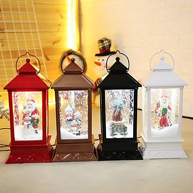 preiswerte Dekoration-Urlaubsdekoration Weihnachtsdeko Weihnachtsbeleuchtung / Weihnachten / Weihnachtsschmuck LED-Lampe / Dekorativ / Neuartige Schwarz / Braun / Weiß 1pc