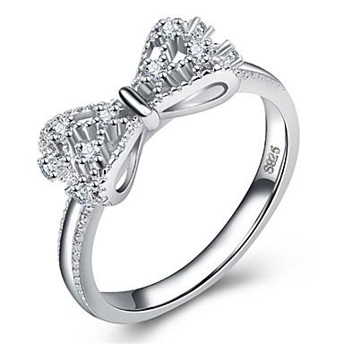 preiswerte Ringe-Damen Ring 1pc Silber Aleación Alltag Schmuck Katze Schmetterling Niedlich