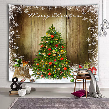 cheap Wall Tapestries-Holiday Wall Decor 100% Polyester New Year's Wall Art, Wall Tapestries Decoration