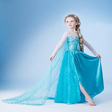 cheap Kids' New Arrivals-Kids Girls' Solid Colored Dress Light Blue