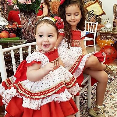 preiswerte Weihnachten-Mama und ich Punkt Weihnachten Kleid Rote