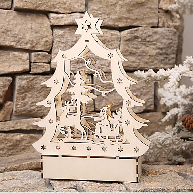 preiswerte Dekoration-Urlaubsdekoration Weihnachtsdeko Weihnachtsbeleuchtung / Weihnachten / Weihnachtsschmuck LED-Lampe / Dekorativ / Neuartige Beige 1pc