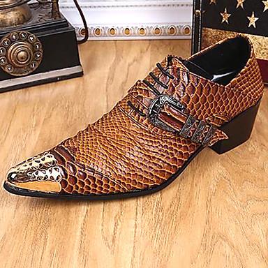 Muškarci Cipele za noviteti Mekana koža Proljeće ljeto / Jesen zima Vintage / Uglađeni Oksfordice Non-klizanje Braon / Zabava i večer