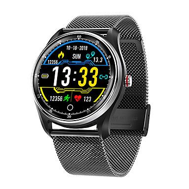 levne Pánské-Inteligentní hodinky Digitální Moderní styl Sportovní Pravá kůže 30 m Voděodolné Monitor pulsu Bluetooth Digitální Na běžné nošení Outdoor - Černá Hnědá Černá / Stříbrná