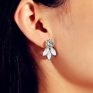 preiswerte Ohrringe-Damen Ohrring Klassisch Blume Flower Shape Stilvoll Süß Modern nette Art Franz?sisch Ohrringe Schmuck Silber Für Hochzeit Party Alltag Festival 1 Paar
