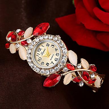 levne Pánské-Dámské Náramkové hodinky Kubický zirkon Květina Elegantní Modrá Červená Fialová Slitina Křemenný Fialová Oranžová Vodní modrá Hodinky na běžné nošení imitace Diamond 1 ks Analogové Jeden rok
