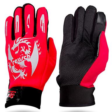 preiswerte Fishing Gloves-Handschuhe fürs Angeln Vollfinger Angeln Allgemein Windundurchlässig Atmungsaktiv warm halten Neopren PU Herbst Winter Herrn Damen