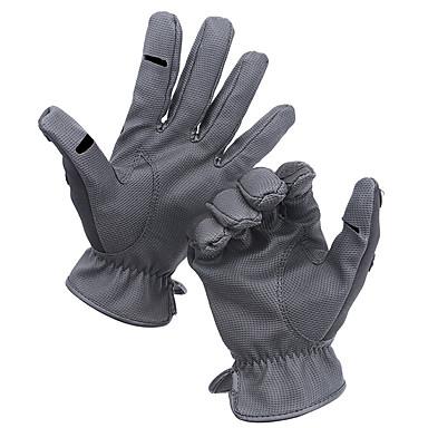 preiswerte Fishing Gloves-Handschuhe fürs Angeln Vollfinger Angeln Allgemein Windundurchlässig Atmungsaktiv warm halten PU Herbst Winter Herrn Damen