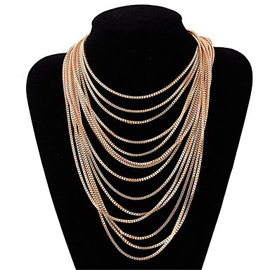 Perfect Lariat CHOKER CHAIN Y NECKLACE Wrap Double Spike Drop Pendant Gold Pl