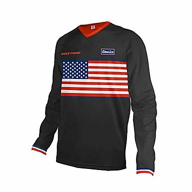 billige Automotiv-motorsykkel jersey menns downhill motocross racing jersey motorsykkel moto langermet t skjorte off-road jersey 100% polyester sykkel skjorte