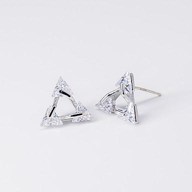 levne Dámské šperky-Dámské Průsvitné Kubický zirkon Peckové náušnice Špice Módní S925 Sterling Silver Náušnice Šperky Stříbrná Pro Vánoce Párty Výročí Zásnuby Dar 1 Pair