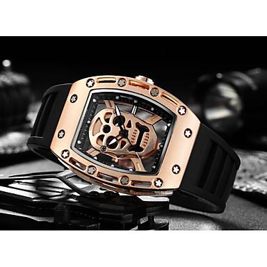 levne Pánské-Pánské Sportovní hodinky Hodinky s lebkou Náramkové hodinky Křemenný Silikon Černá kreativita Svítící Cool Analogové Luxus Vintage Na běžné nošení Czaszka Módní - Černá Černá a zlatá Růžová Dva roky