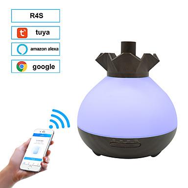 400ml wifi aroma légnedvesítő illóolaj diffúzor aromaterápia elektromos ultrahangos hideg ködkészítő otthoni távirányítóhoz google, amazon alexa, tuya
