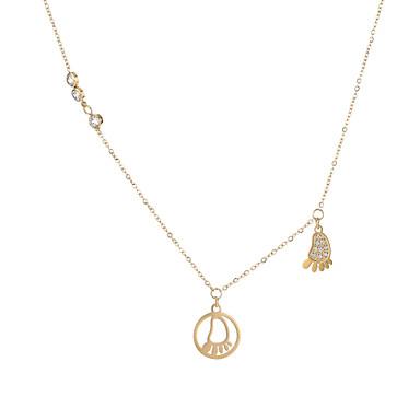 povoljno Modne ogrlice-Žene Charm Necklace Jastuk Radost Casual / sportski Moderna Slatka Style Tikovina Rose Gold Zlato 42 cm Ogrlice Jewelry 1pc Za Karneval Rad Festival