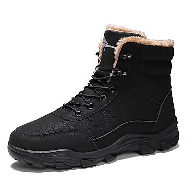 preiswerte Schuhe und Taschen-Herrn Schneestiefel PU Winter Sport Stiefel Wandern warm halten Booties / Stiefeletten Schwarz / Kamel