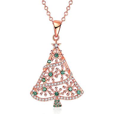 povoljno Modne ogrlice-Žene Ogrlice s privjeskom Geometrijski Božićno drvce Moda Krom Zlato 45 cm Ogrlice Jewelry 1pc Za Božić Dnevno
