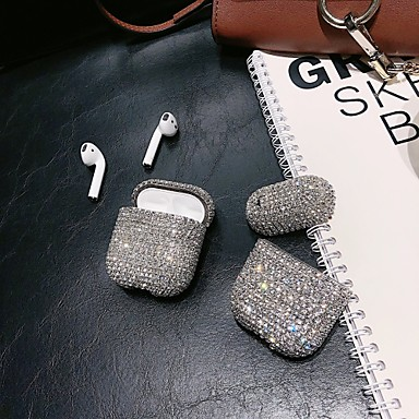 cheap Earphone Accessories-Case For AirPods Rhinestone Headphone Case Hard