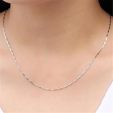 levne Dámské šperky-Dámské Řetízky Klasika Drahocenný Módní Měď Postříbřené Stříbrná 45 cm Náhrdelníky Šperky 1ks Pro Denní Street Práce