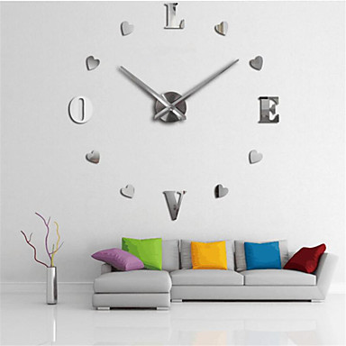 cheap Wall Clocks-Wall Clock,Modern Contemporary DIY Acrylic Round Indoor