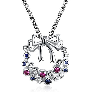 levne Dámské šperky-Dámské Kubický zirkon Náhrdelníky s přívěšky Geometrické Motýlek Módní Měď Růžové zlato Stříbrná 45+5 cm Náhrdelníky Šperky 1ks Pro Vánoce Festival
