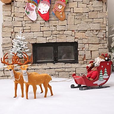 preiswerte Dekoration-Urlaubsdekoration Weihnachtsdeko Weihnachtsfiguren / Weihnachten / Weihnachtsschmuck Cartoon Design / Dekorativ / Neuartige Rot 1pc