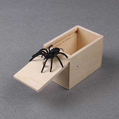 cheap Gags & Practical Jokes-Practical Joke Gadget Halloween Toys Spider Toys Stress and Anxiety Relief Wooden 1 pcs Kid's Adults All Toy Gift