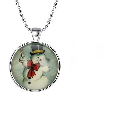 povoljno Modne ogrlice-Žene Ogrlice s privjeskom Klasičan Božićno drvce Krom Novac-srebrna 45+5 cm Ogrlice Jewelry 1pc Za Božić Dnevno