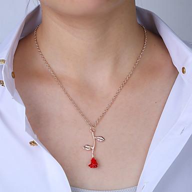 levne Dámské šperky-Dámské Náhrdelník Ozdobný Růže Sladký Elegantní Růže pozlacená Růžové zlato 45 cm Náhrdelníky Šperky 1ks Pro Dovolená