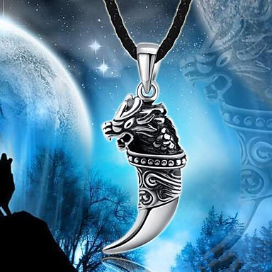 preiswerte Halsketten Herren-Herrn Pendant Halskette Charm Halskette Klassisch Kostbar Einzigartiges Design Modisch Chrom Silber 50 cm Modische Halsketten Schmuck 1pc Für Strasse