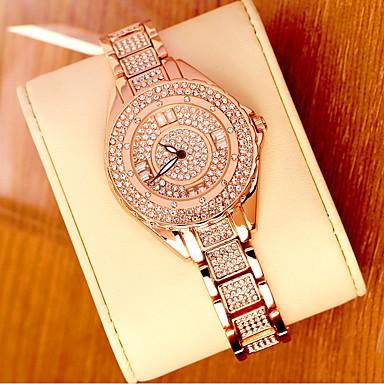 povoljno Ženski satovi-Žene Luxury Watches Ručni satovi s mehanizmom za navijanje Diamond Watch Japanski Nehrđajući čelik Srebro / Zlatna 30 m Analog dame Bling Bling - Rose Gold Zlato Srebro