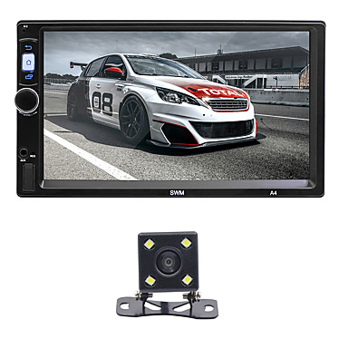 levne Auto Elektronika-swm a4 + 4led camera 7 inch 2 din android 8.1 car mp5 player car mulitimedia player dotykový displej / gps / vestavěná podpora Bluetooth rca / hdmi / fm2 mpeg / mpg / wmv mp3 / wma / wav jpeg pro