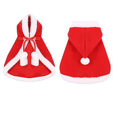 cheap Dog Clothing & Accessories-Dogs Cats Hoodie Christmas Dog Clothes Red Costume Husky Labrador Alaskan Malamute Polyester Canvas Mixed Material Christmas S M L