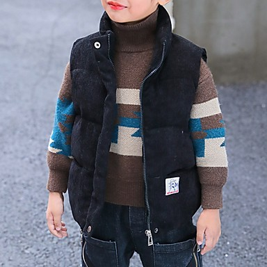 povoljno Odjeća za dječake-Djeca Dječaci Ulični šik Print Prsluk Crn