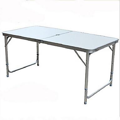 Τραπέζι κάμπινγκ Φορητό Πτυσσόμενο Αναδιπλούμενο Κράμα αλουμινίου για Κατασκήνωση Φθινόπωρο Άνοιξη Μαύρο