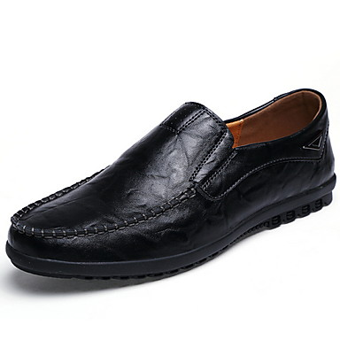 cheap Men's Shoes-Men's Comfort Shoes PU Fall & Winter Loafers & Slip-Ons Yellow / Brown / Black