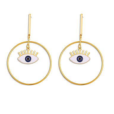 levne Dámské šperky-Dámské Visací náušnice Ozdobný Eyes Punk Tropický vzhled Náušnice Šperky Zlatá Pro Podium Street Bar 1 Pair